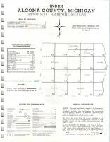 Index Map, Alcona County 1974